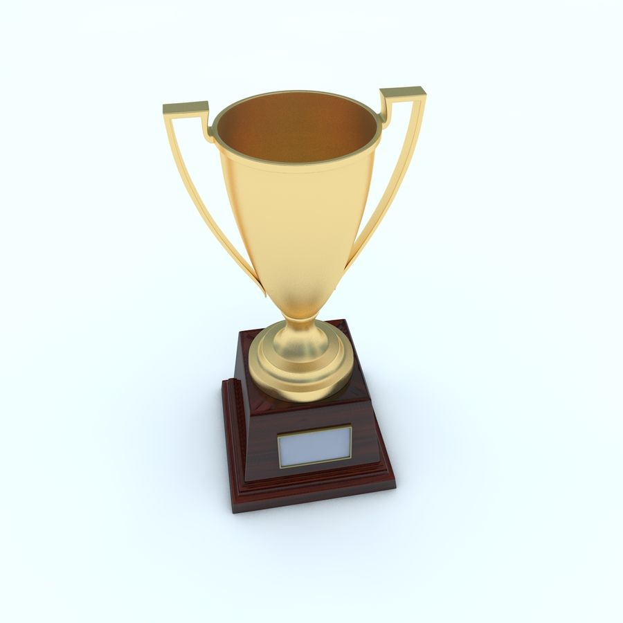 Trofee Cup royalty-free 3d model - Preview no. 4