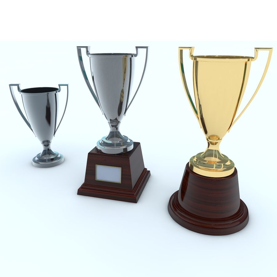 Trofee Cup royalty-free 3d model - Preview no. 1