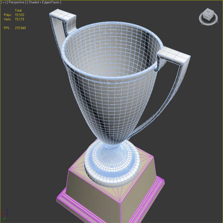 Trofee Cup royalty-free 3d model - Preview no. 10