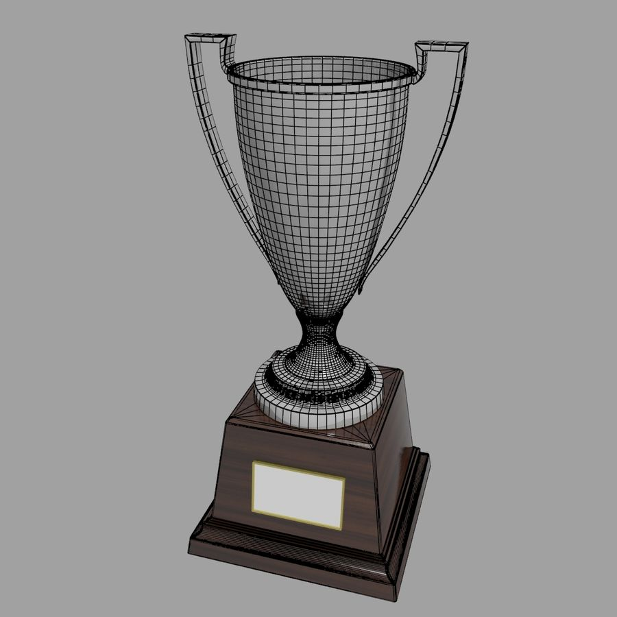 Trofee Cup royalty-free 3d model - Preview no. 6