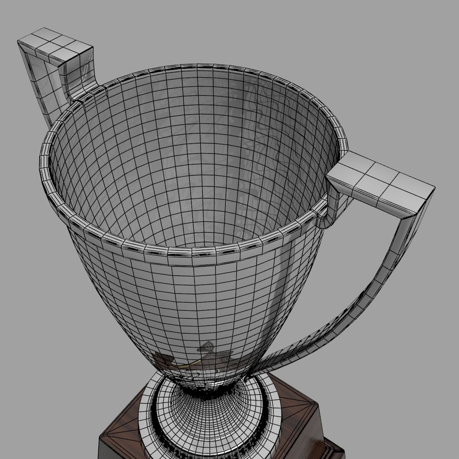 Trofee Cup royalty-free 3d model - Preview no. 7