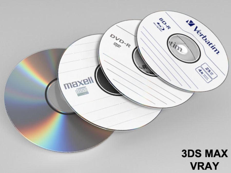 CD DVD disc royalty-free 3d model - Preview no. 2