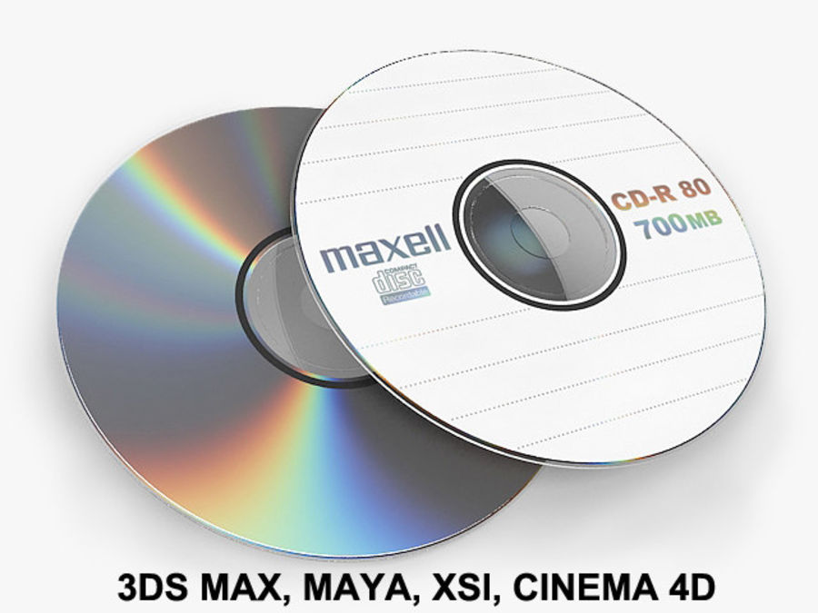 CD DVD disc royalty-free 3d model - Preview no. 1