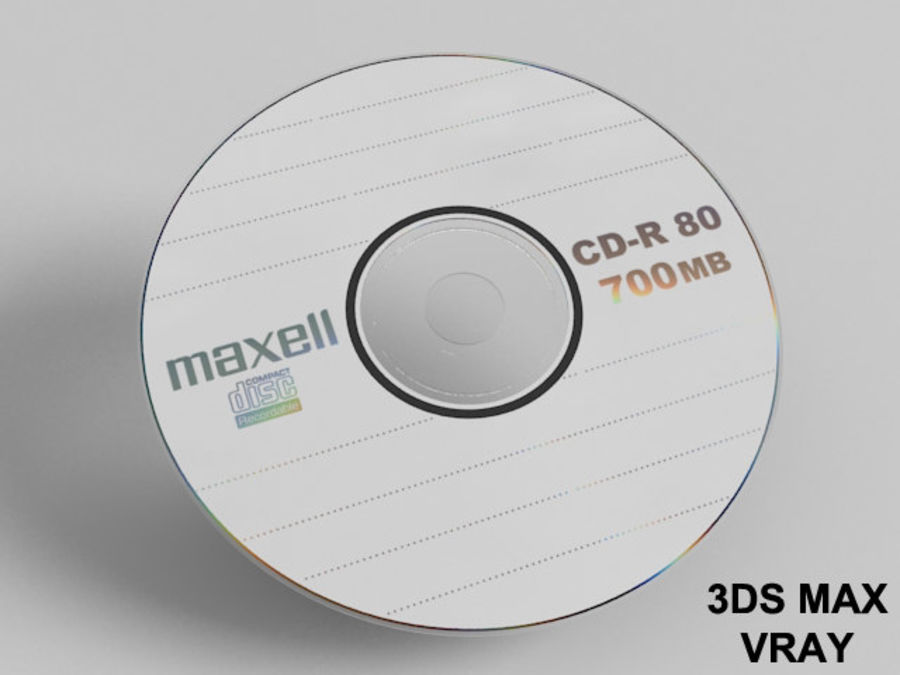 CD DVD disc royalty-free 3d model - Preview no. 6