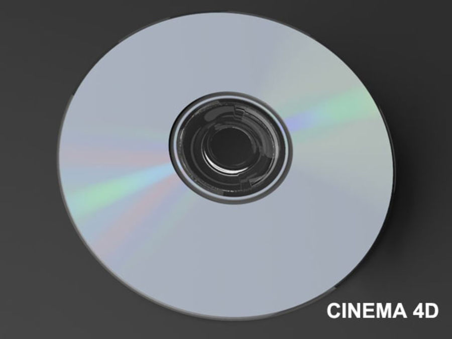 CD DVD disc royalty-free 3d model - Preview no. 9