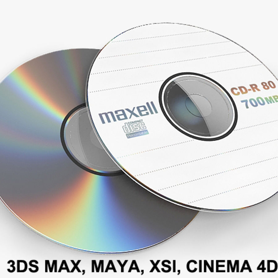 CD DVD-skiva royalty-free 3d model - Preview no. 1