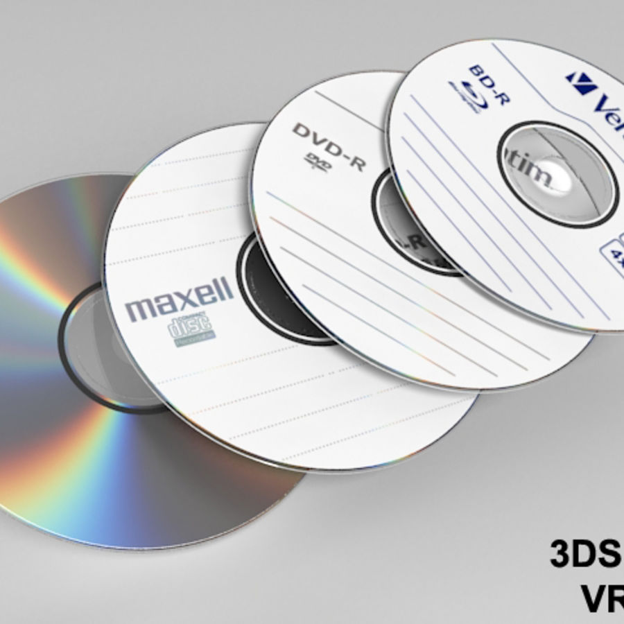 CD DVD-skiva royalty-free 3d model - Preview no. 2