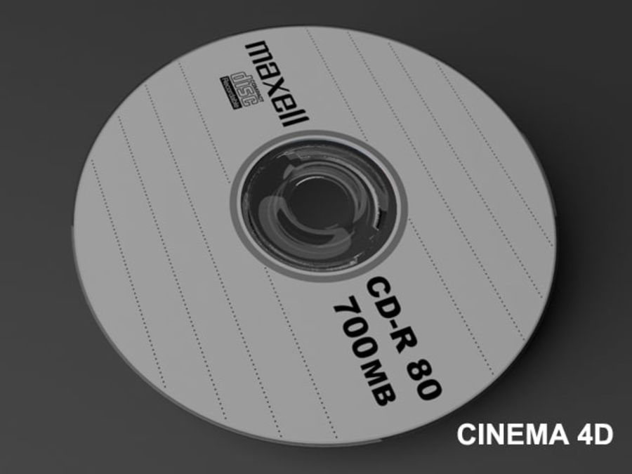 CD DVD disc royalty-free 3d model - Preview no. 8