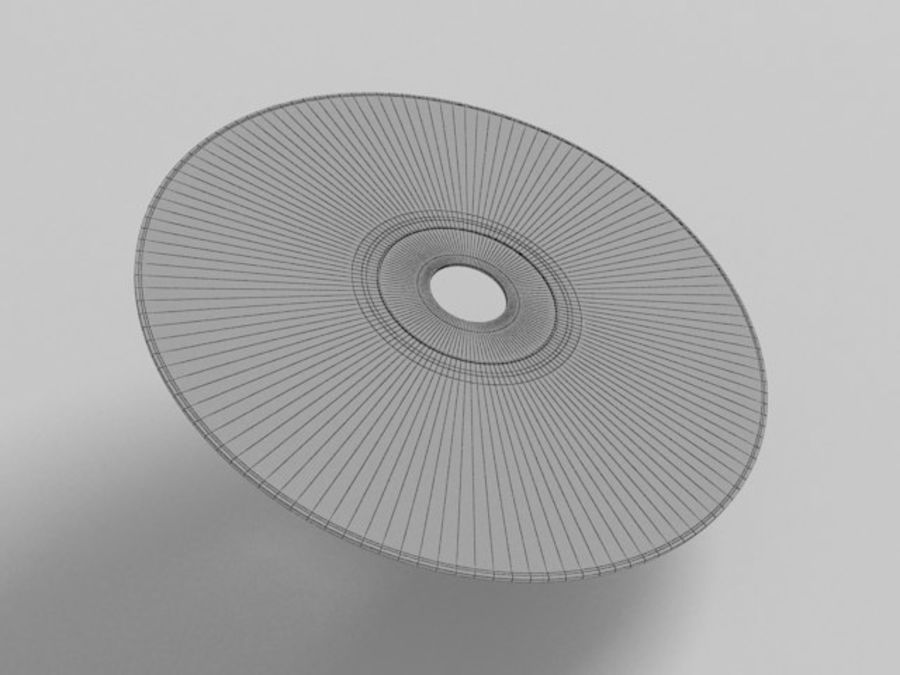 CD DVD disc royalty-free 3d model - Preview no. 5