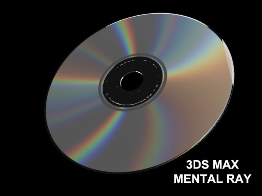 CD DVD disc royalty-free 3d model - Preview no. 14