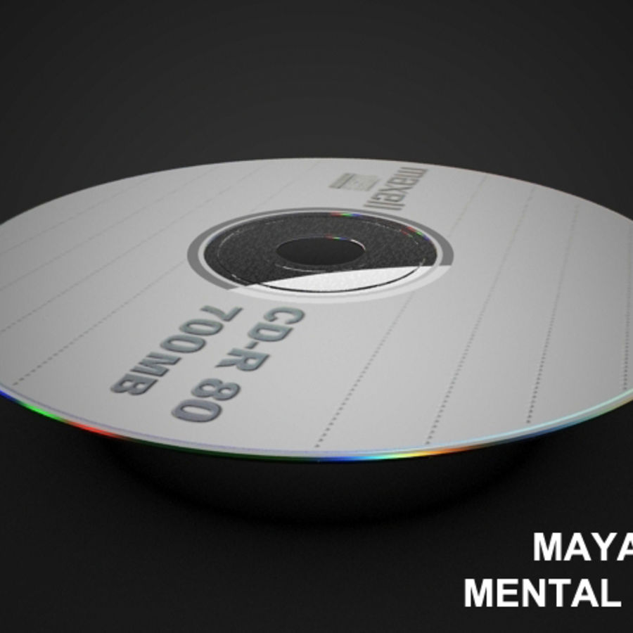 CD DVD-skiva royalty-free 3d model - Preview no. 11