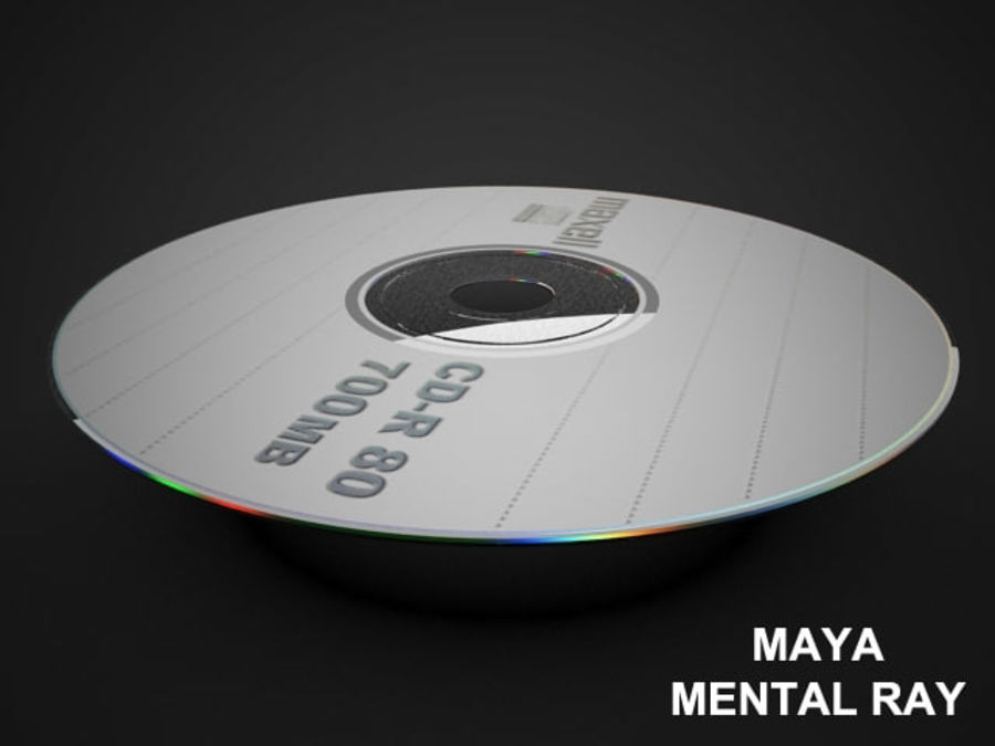 CD DVD disc royalty-free 3d model - Preview no. 11