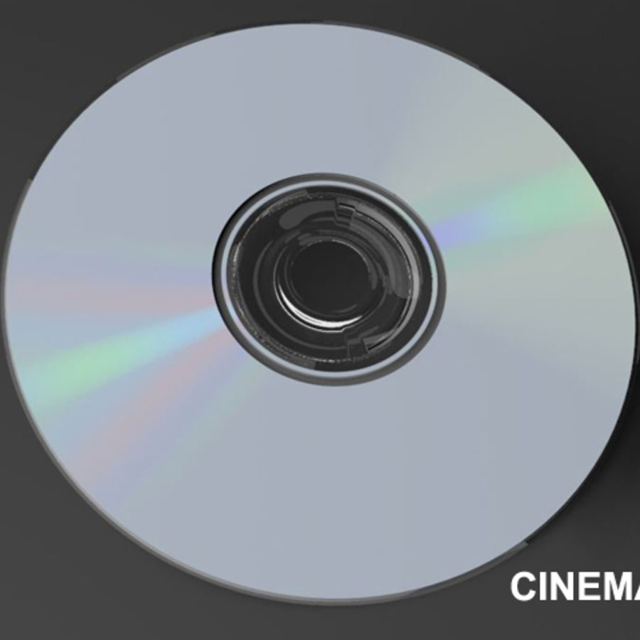 CD DVD-skiva royalty-free 3d model - Preview no. 9