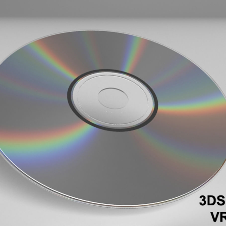 CD DVD-skiva royalty-free 3d model - Preview no. 3