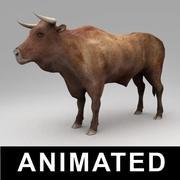 动画的公牛 3d model