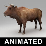 Animated bull 3d model