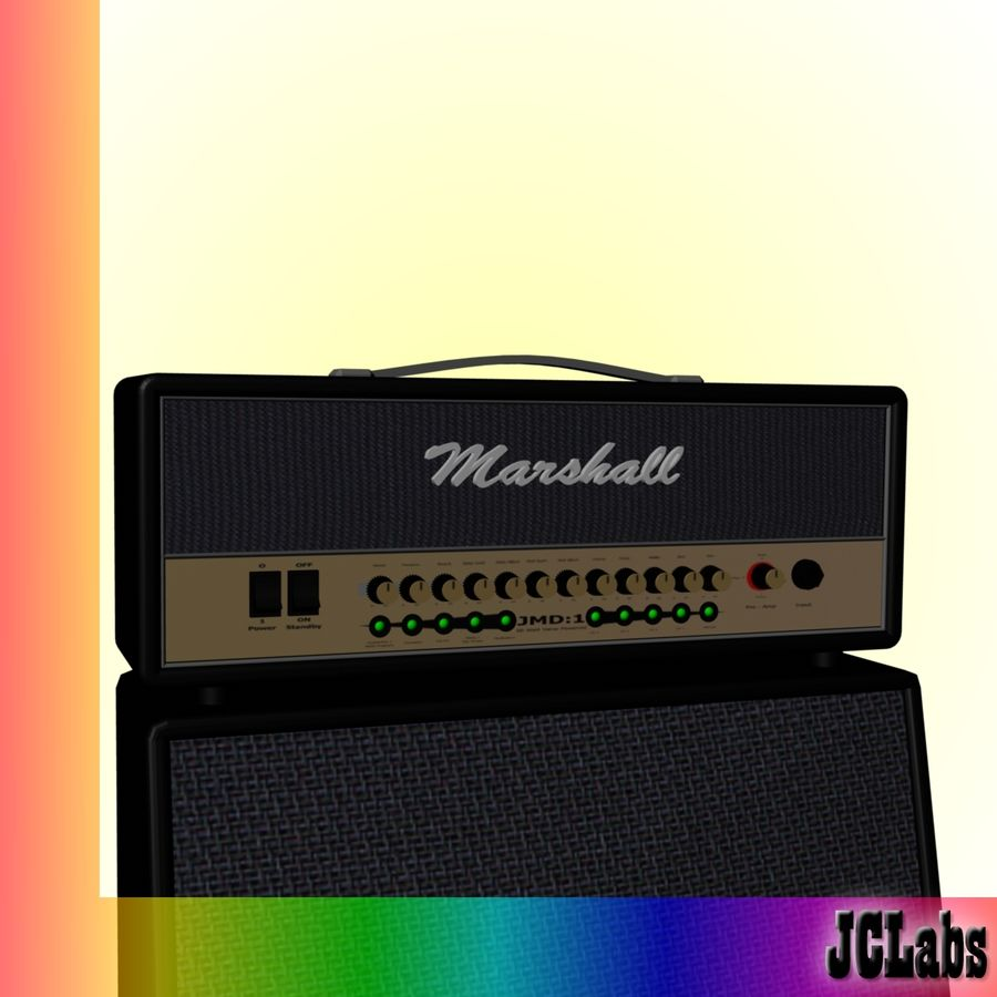 Marshall Amplifier royalty-free 3d model - Preview no. 3