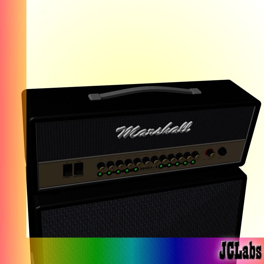 Marshall Amplifier royalty-free 3d model - Preview no. 4