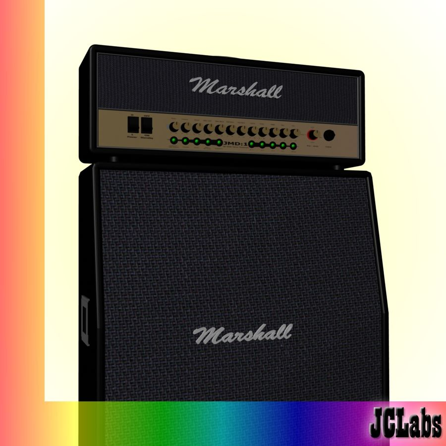 Marshall Amplifier royalty-free 3d model - Preview no. 1
