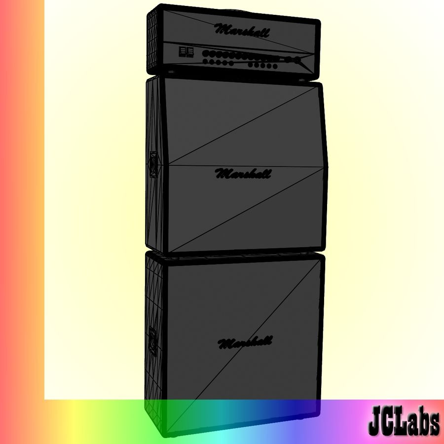 Marshall Amplifier royalty-free 3d model - Preview no. 5