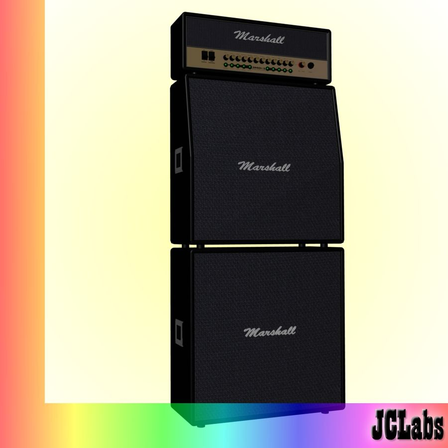 Marshall Amplifier royalty-free 3d model - Preview no. 2