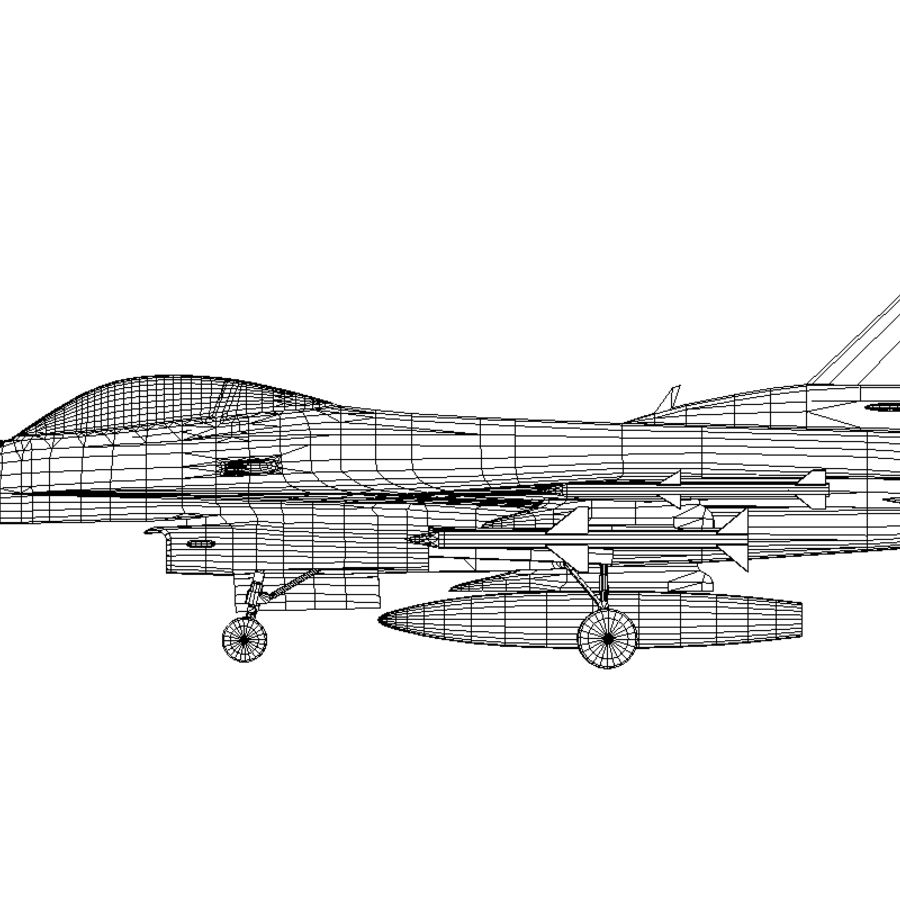 Jato de caça F-16 royalty-free 3d model - Preview no. 6
