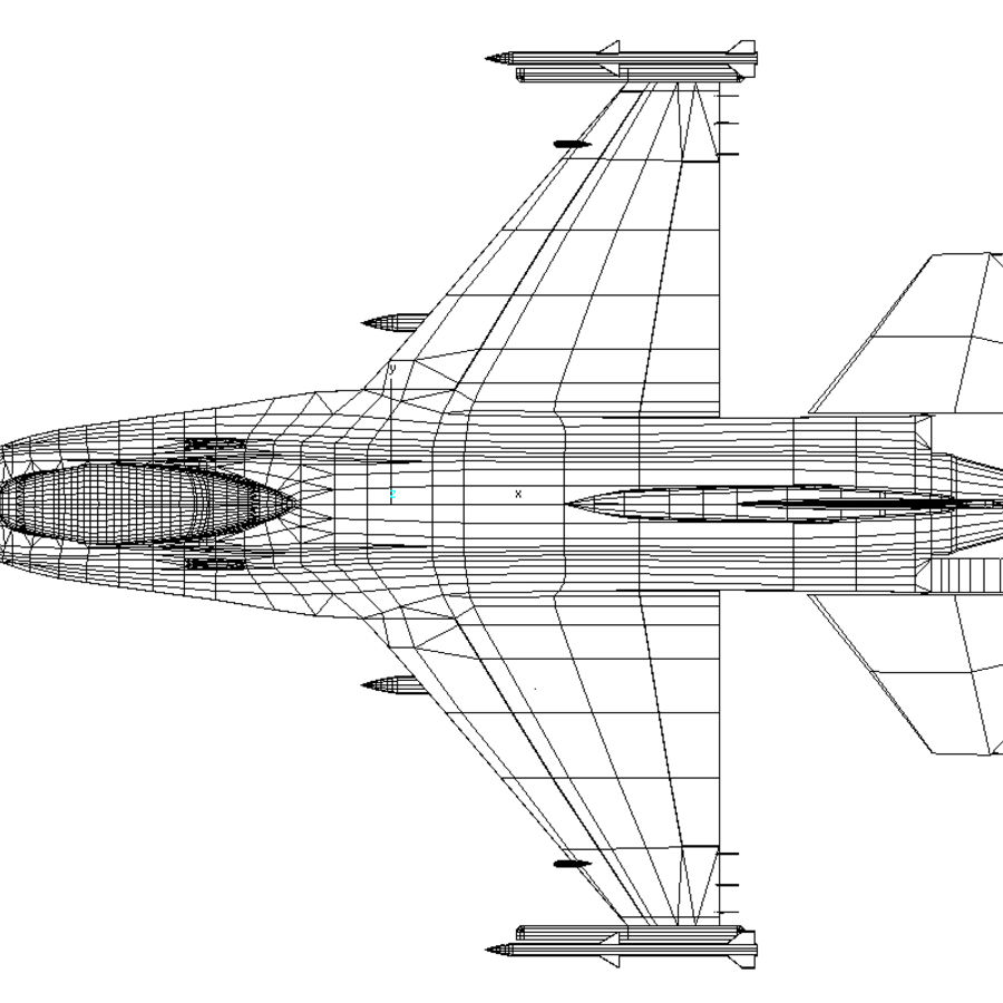 Jato de caça F-16 royalty-free 3d model - Preview no. 5