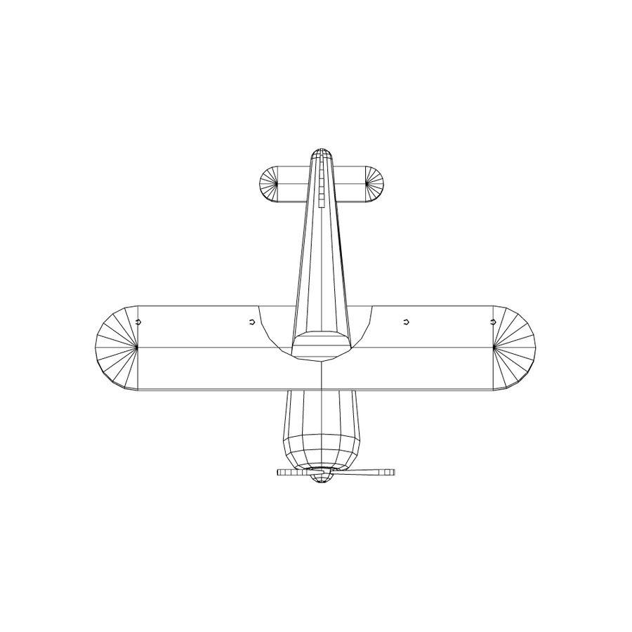 bi-plane royalty-free 3d model - Preview no. 4