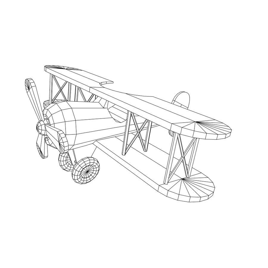 bi-plane royalty-free 3d model - Preview no. 2