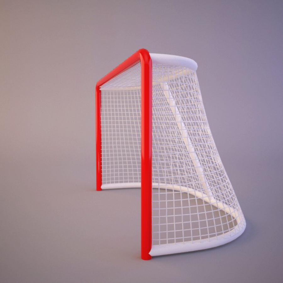 曲棍球目标 royalty-free 3d model - Preview no. 3