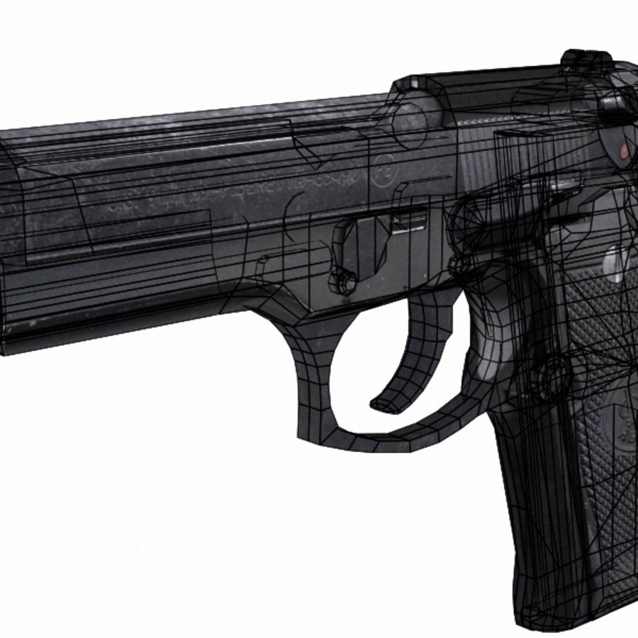 M9 Beretta Handgun W/Silencer 3D Model $20 - .max .3ds .obj .fbx ...