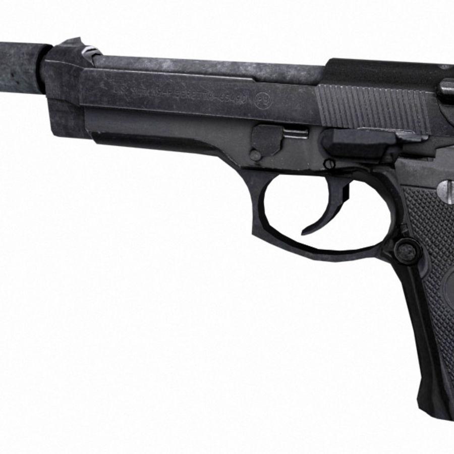 M9 Beretta Handgun W/Silencer 3D Model $20 - .max .3ds .obj .fbx ...