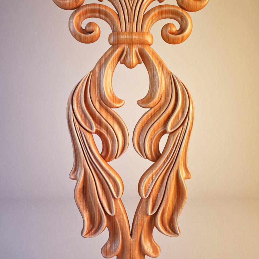 Oyma Dekoratif Eleman royalty-free 3d model - Preview no. 2
