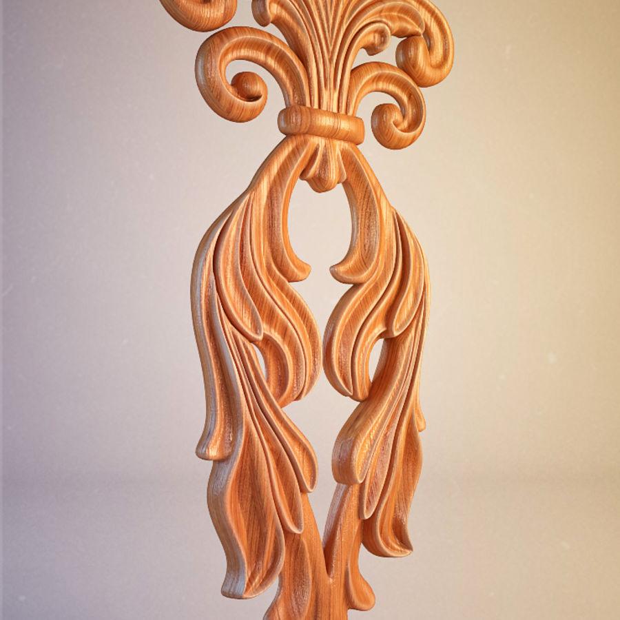 Oyma Dekoratif Eleman royalty-free 3d model - Preview no. 3
