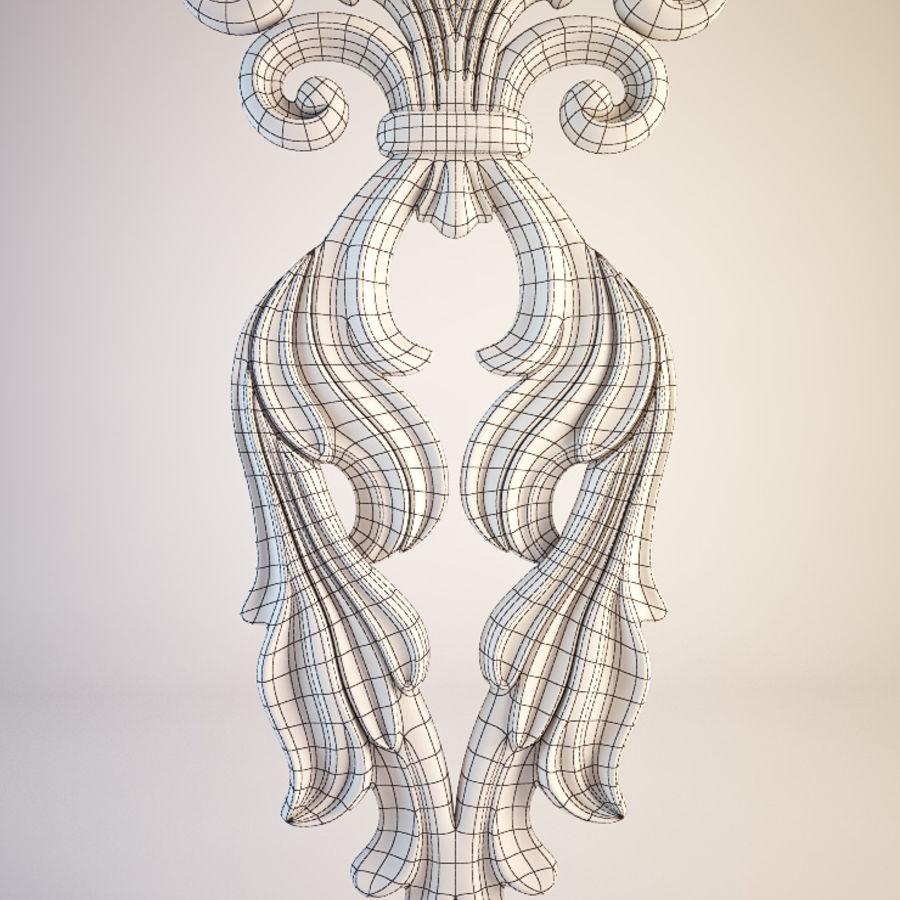 Oyma Dekoratif Eleman royalty-free 3d model - Preview no. 6