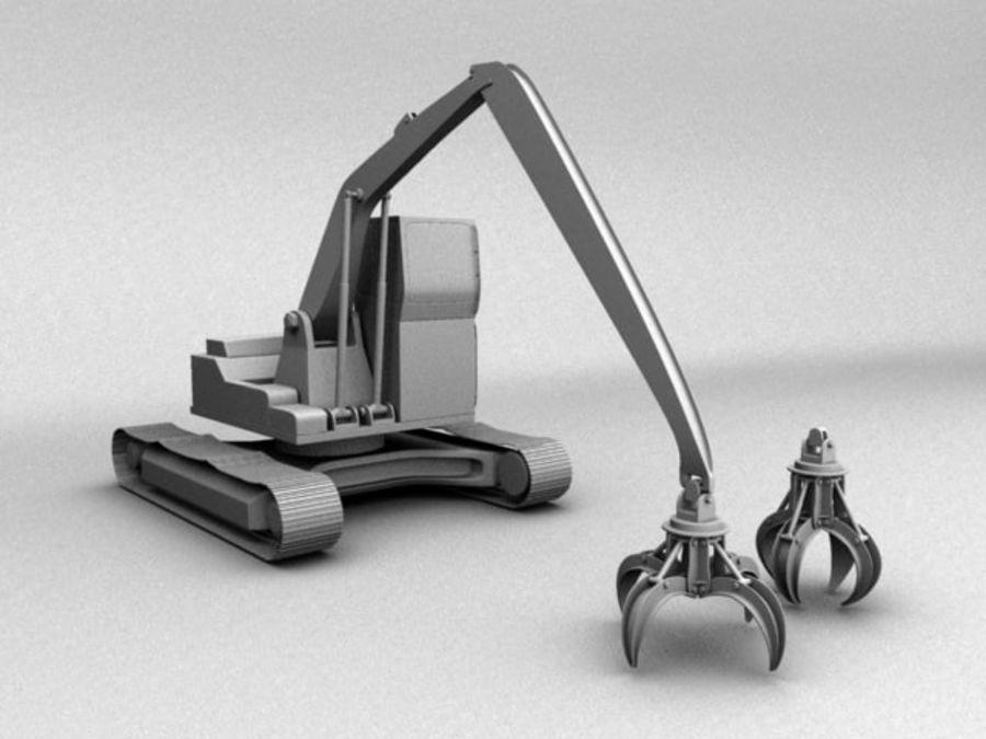 Scrap Yard Excavator royalty-free 3d model - Preview no. 3