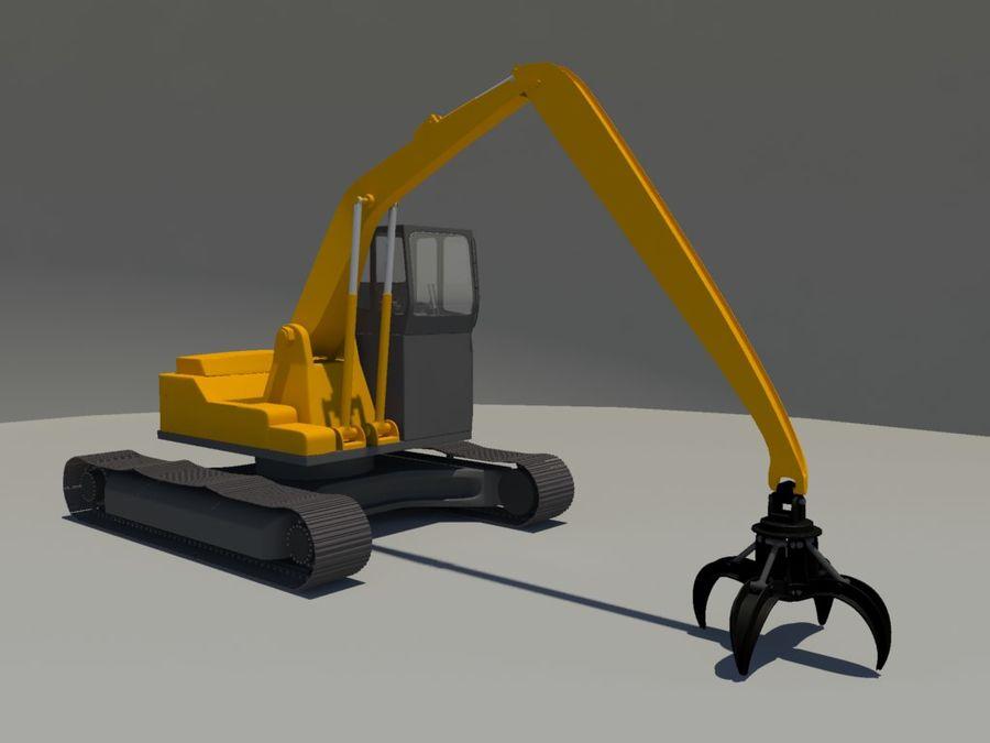 Scrap Yard Excavator royalty-free 3d model - Preview no. 5