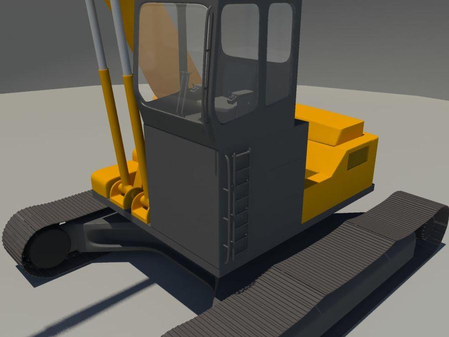 Scrap Yard Excavator royalty-free 3d model - Preview no. 7