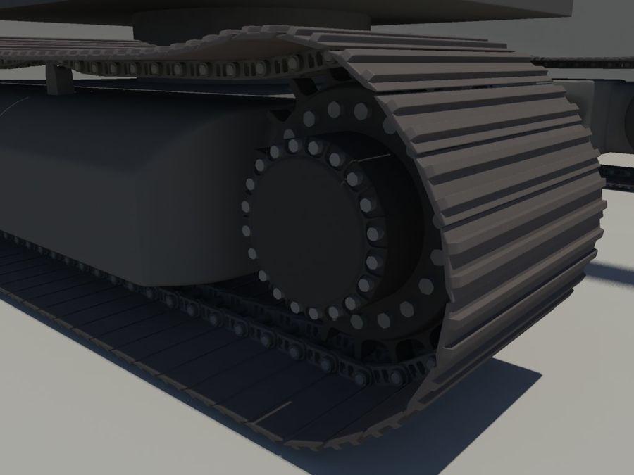 Scrap Yard Excavator royalty-free 3d model - Preview no. 6
