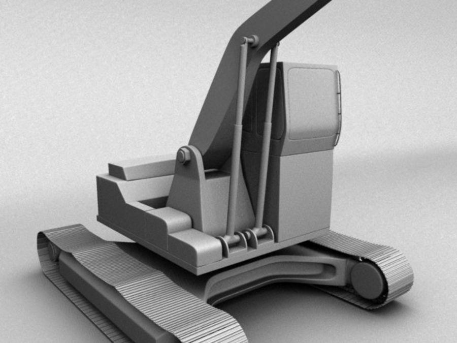 Scrap Yard Excavator royalty-free 3d model - Preview no. 4