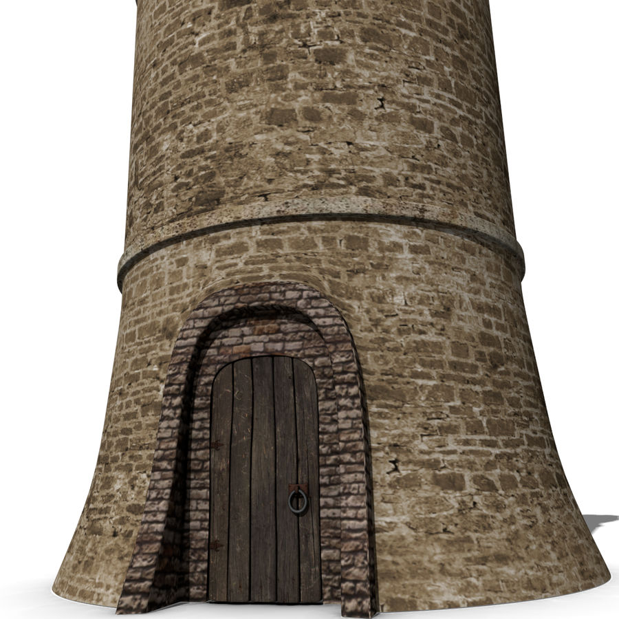 Medieval Castle Tower royalty-free 3d model - Preview no. 3