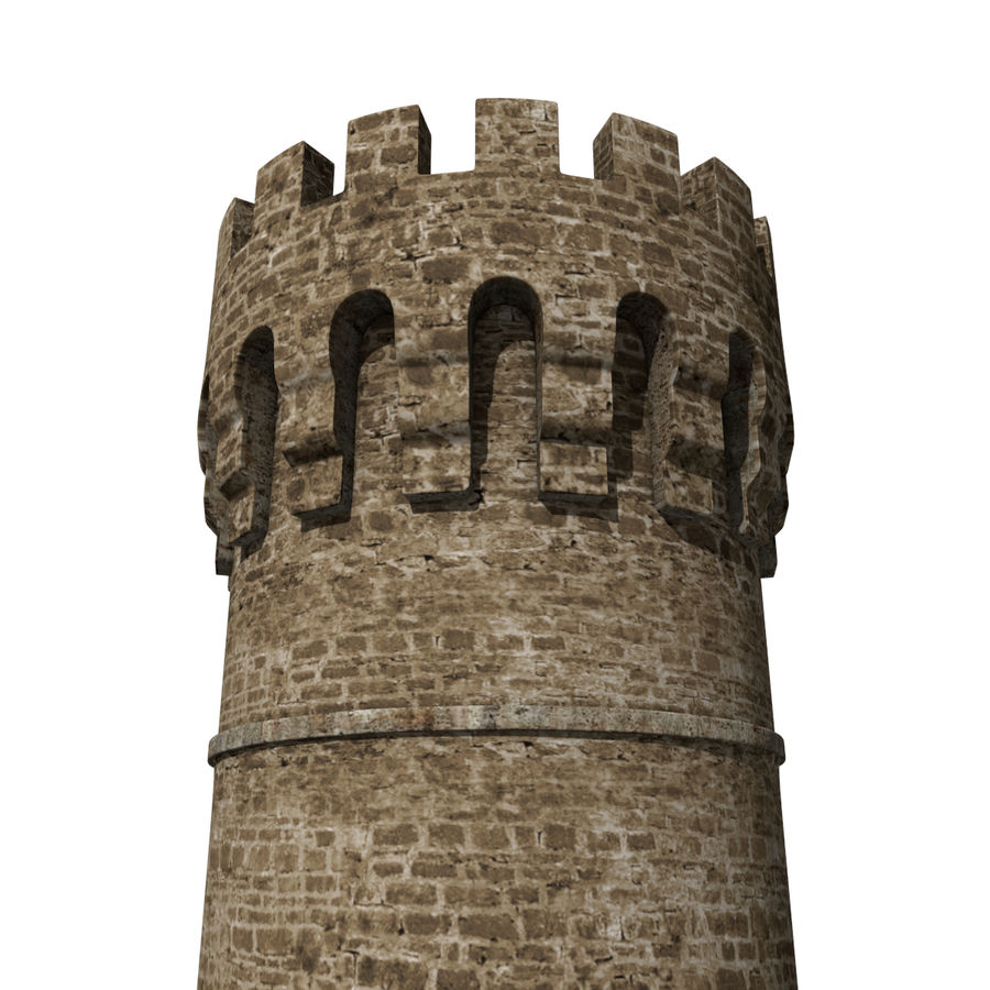 Medieval Castle Tower royalty-free 3d model - Preview no. 4