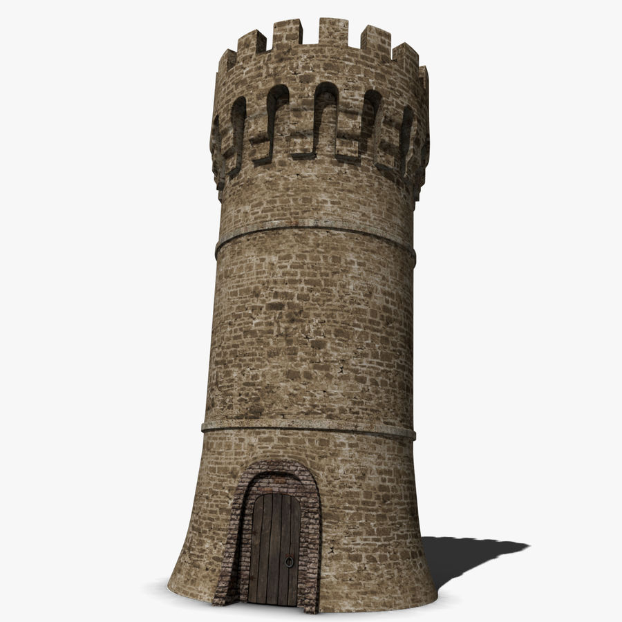 Medieval Castle Tower royalty-free 3d model - Preview no. 1