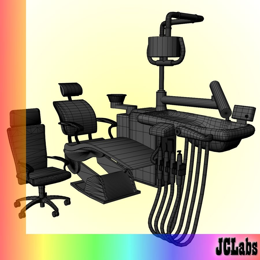 Dental Chair royalty-free 3d model - Preview no. 5