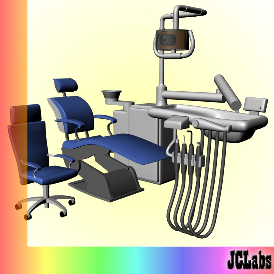 Dental Chair royalty-free 3d model - Preview no. 1