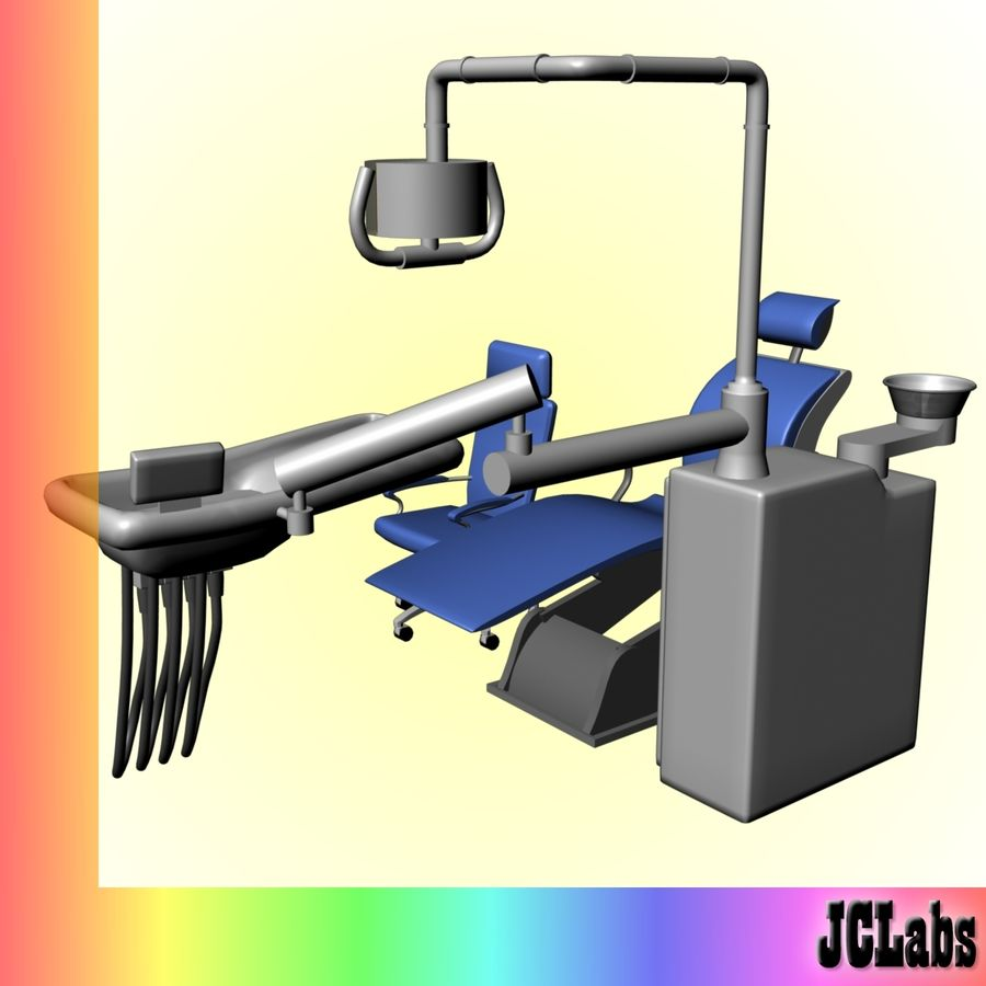 Dental Chair royalty-free 3d model - Preview no. 3