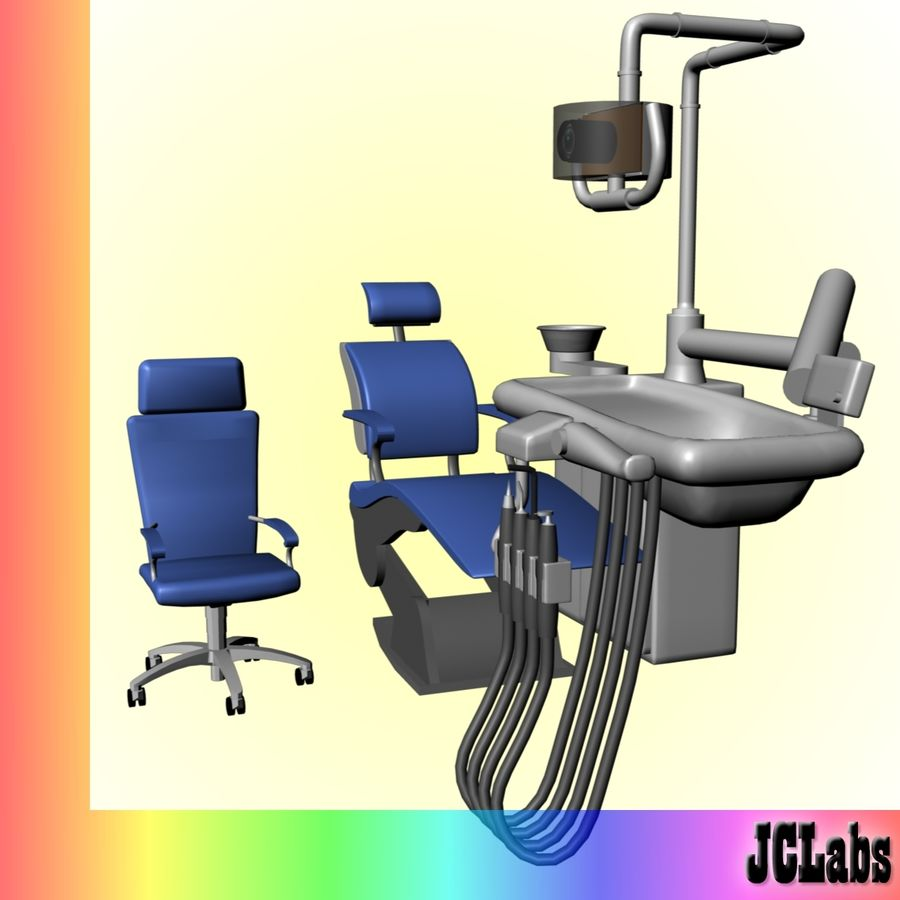 Dental Chair royalty-free 3d model - Preview no. 2