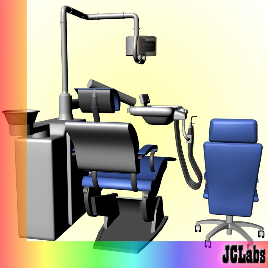 Dental Chair royalty-free 3d model - Preview no. 4