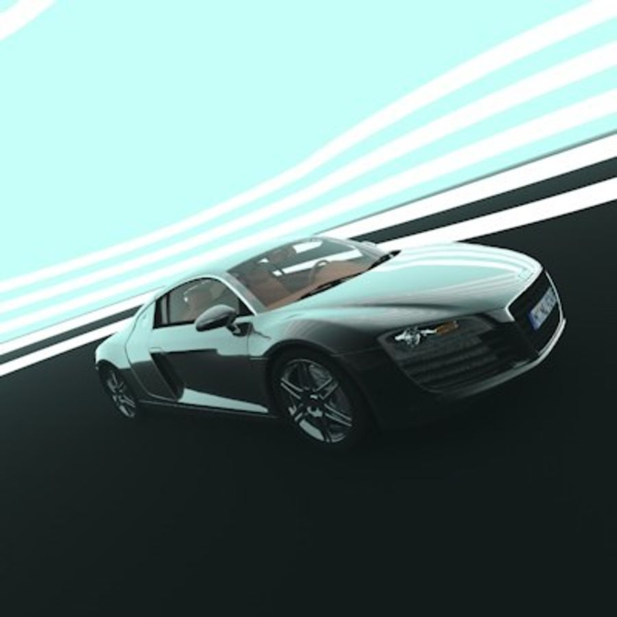 Audi R8 royalty-free 3d model - Preview no. 1