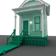 Cute Little Cottage 3d model
